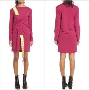 NWT Kappa Sash Long Sleeve Pink Dress